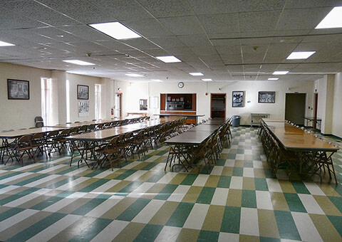 Fellowship hall and kitchen