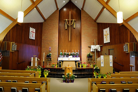 Zion Lutheran Church's Alter and Sanctuary