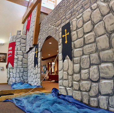 Zion Lutheran Church VBS 2017 - Castle and drawbridge
